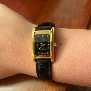 Collezio Black Gold Lady's Wrist Watch